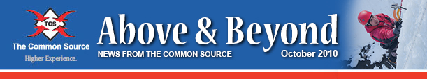 Above & Beyond News from The Common Source | October 2010