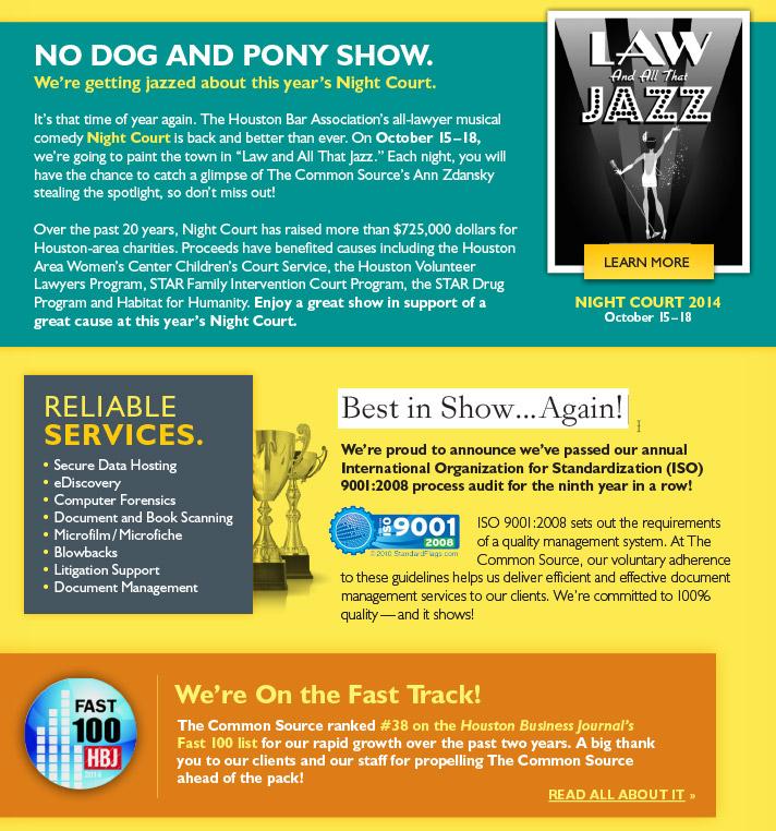 No Dog and Pony Show.