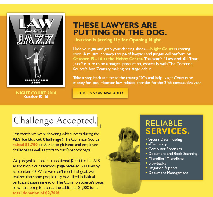 These lawyers are putting on the dog.