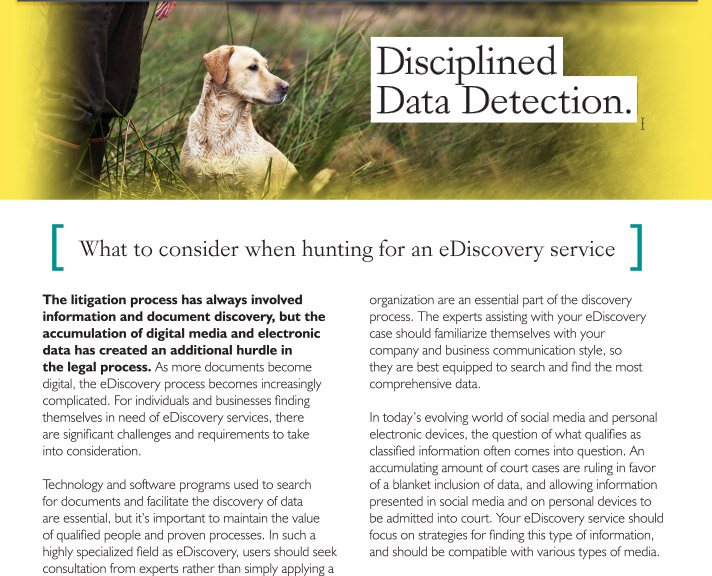 Disciplined Data Detection.