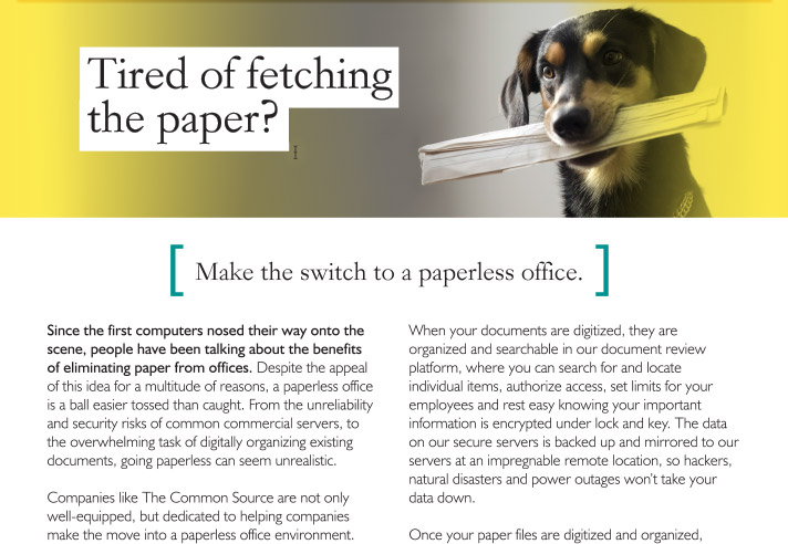 Tired of fetching the paper?