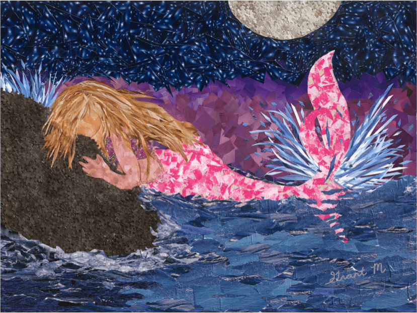 """Mystic Mermaid,"" one of artist Grant Manier's recent works"
